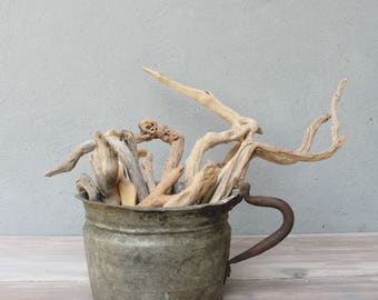 Natural Driftwood Sticks, Beach Home Decor, Driftwood Decor, lot of 12