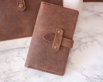 Leather Passport Holder // Leather Passport Cover / Personalized Passport Holder / Passport Case / Field Notes Cover / Field Notes Wallet
