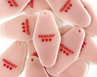 Feminist Motel Keychain