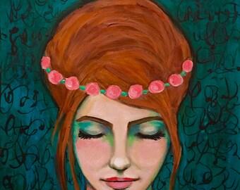 Follow Your Dreams - Original Portrait Painting