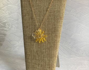 Sun and cloud necklace