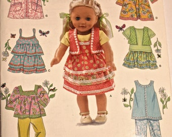 "18"" Simplicity Pattern 0478 for Dolls such as American Girl, Battat, Our Generation and Similar Dolls"