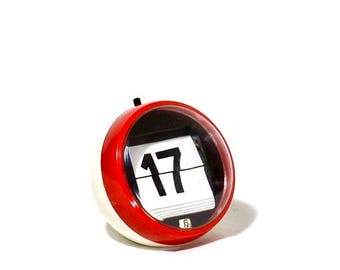 Click a Date Perpetual Ball Calendar: Red