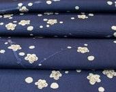 Japan Blue and White // Plum Blossoms // Japanese Kimono Fabric