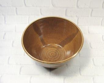 Ceramic Serving Bowl - Large serving bowl - Brown Bowl - Large Salad bowl - fruit bowl - Popcorn Bowl - centerpiece - Pottery Serving Bowl
