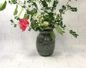 Ceramic Vase - Flower Vase - Accent Piece Decor - Green Vase - Pottery Vase - Mantelpiece Decor - Decorative Vase - Utensil Holder
