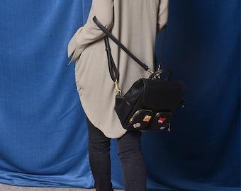 Free Shipping SALE - Parisian photographer - boho back collar ring bamboo cotton shirt neck ring tunic dress double stitches blouse (Y130v)