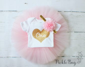 First Birthday Outfit Girl, Tutu Dress Set, Tulle Skirt, Baby Headband, Baby Romper, 1st Birthday Outfit Girl, Cake Smash Outfit Girl, Pink
