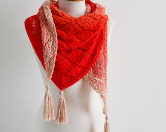 Lace crochet shawl, triangular
