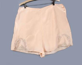 XXXL 1920's Peach Silk Tap Panties Flapper Era