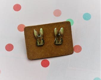 Rabbit Earrings, Teeny Tiny Earrings, Bunny Earrings, Animal Jewelry, Cute Earrings