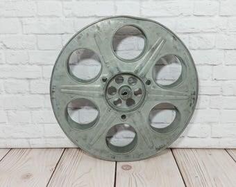 Vintage Large Metal Industrial Film Reel