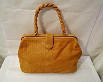 Leather Bag, Soft Tooled Leather Purse, Leather Handbag