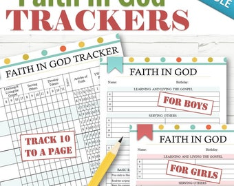EDITABLE Faith in God Tracking - INSTANT DOWNLOAD