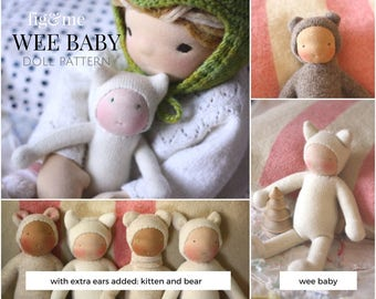PDF Wee Baby doll pattern by Fig and Me.