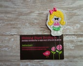 Fun Planner Clips - Shocking Pink Summer Luau Girl With Blonde Hair And Green Grass Skirt Paper Clip Or Bookmark - Planner Inspiration