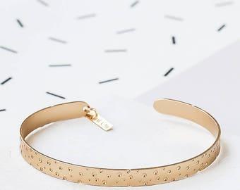 Dots Bracelet, Dots Cuff, Geometric Bracelet, Gold Bracelet, Minimalist Bracelet