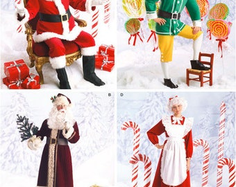 SANTA CLAUS Costume Pattern - Mrs Claus ELF Father Time Christmas Costumes Last One
