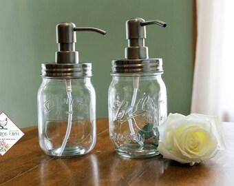 kilner ball mason jar soap dispenser lotion dispenser with stainless steel lid and pump