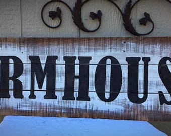 Farmhouse Wood Sign Handmade Vintage Distressed Rustic by JoJo Couture