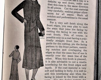 Tailored Garments Woman's Institute of Domestic Arts & Sciences vintage 20s needlework dressmaking tailoring book women's men's boys clothes