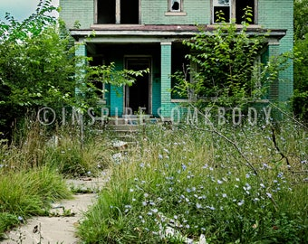 OH THE STORIES 8X12 Abandoned Home Detroit Fine Art Print