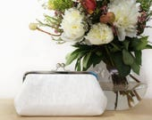 White Sequins Clutch | Bridesmaids | Mother's Clutch