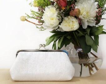 White Sequins Clutch | Bridesmaids | Mother's Clutch