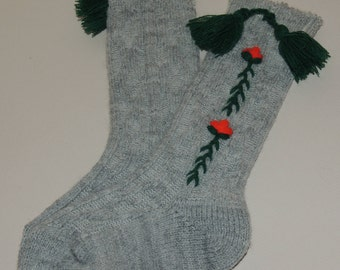 German Wool Embroidered Socks for Baby or Toddler Never Worn