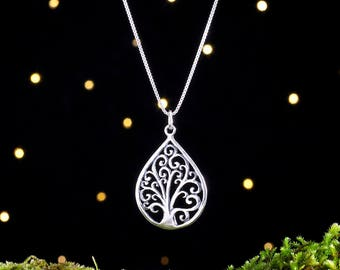 Sterling Silver Tree of Life - (Pendant, Necklace, or Earrings)