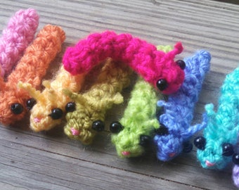 Bitty Caterpillar - crochet crochet caterpillar amigurumi caterpillar crochet worm amigurumi worm miniature caterpillar butterfly