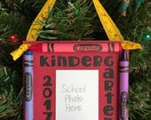 2017 Kindergarten Crayon Keepsake School Photo Ornament