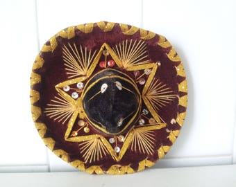 Vintage  Mexico Sombrero For Pet