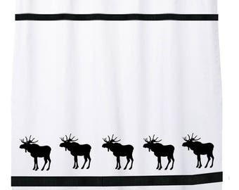 Moose Shower Curtain In Your Choice Of Colors