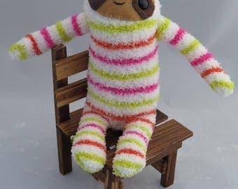 Bubblegum Sloth - Sloth Plush Sock Animal