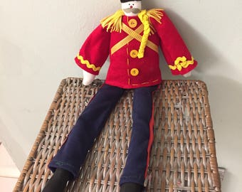 "cHRISTMAS~PRIMITIVE~TOY~SOLDIER~aWESOME~22""~tALL~hANDMADE~uNIQUE~rEADY~tO~hANG~wEIGHTED~bOTTOM~dECOR~gIFT~dOOR"