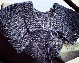 Claire's Hunt Capelet PDF Knitting Pattern Cape Shoulder Wrap, Knitting Pattern Only