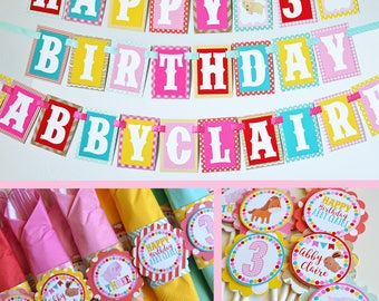 Petting Zoo Birthday Party Decorations Fully Assembled | Farm Animal Banner | Girl Farm Party | Barn Birthday | Farm Birthday Party