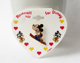 Vintage Mickey Mouse Brooch, Mickey Mouse Pin