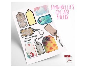 Tag-de-Telle Digital Collage Sheet by Jennibellie