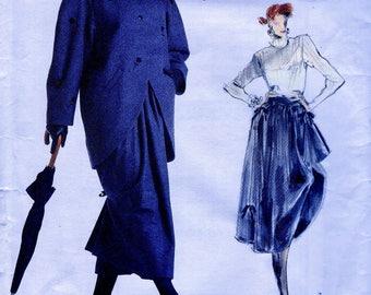 UNCUT * Betty Jackson London Designer Vogue Pattern 1970 *  Misses' Jacket and Dirndl Drapery Skirt * RARE * Sizes 12-14-16