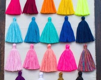 Mala Tassels, Long Jewelry Tassels, 4 Inch,  Cotton  Tassel, Decorative Tassels,  Large Tassel, Boho