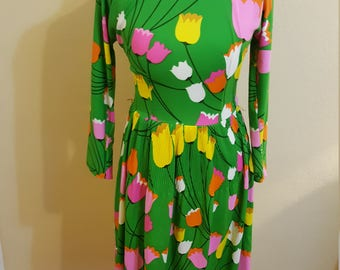 1960s Mod Dress - Size Large