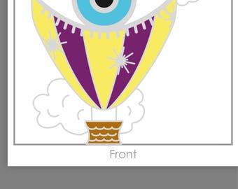 PREORDER! Hot Air Balloon Enamel Pin Badge