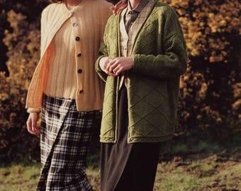 Classic Elite Yarns Knitting Pattern #629 The Gorse at Cardiganshire - Twinset, Hat, Cardigan