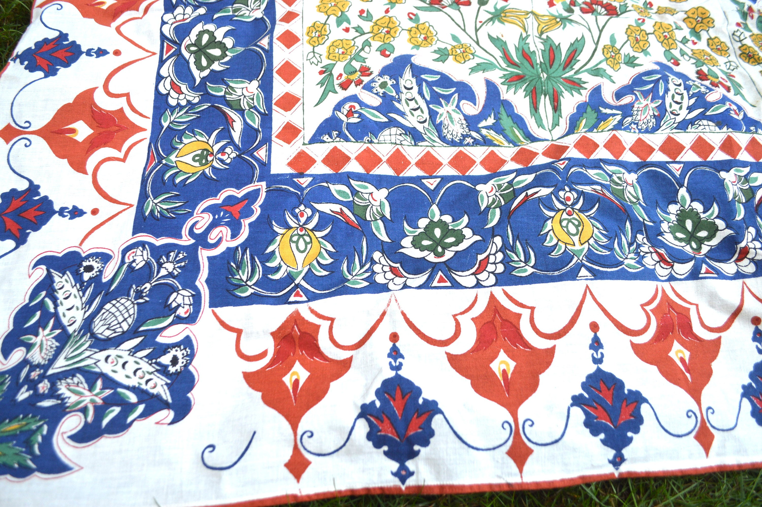 Vintage 90s 1993 Hippie Wall Hanging Tablecloth Home Decor