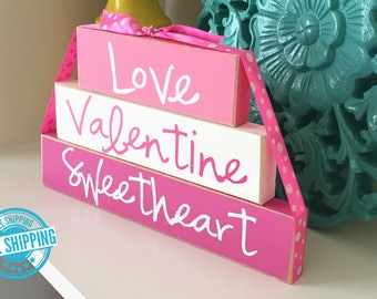 Valentine's Day Sign- Valentines Day Decor, Valentines Wood Sign, Valentines Wood Decor, Wood Valentines Sign, Sweetheart Wood Sign