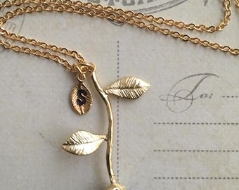 Sapphire Blue Rose, Sapphire Rose Necklace, September Birthday, September Birthstone