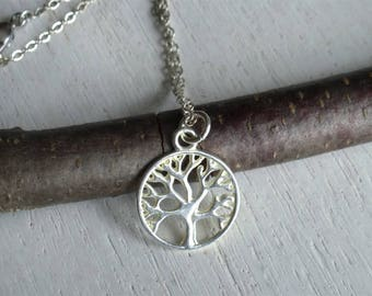Tree Necklace, Tree of Life Necklace (Many charms to choose)