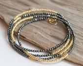 Pyrite & Gold Wrap Bracelet